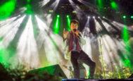 El cantante Manolo García, en un concierto en la plaza de toros de Valencia