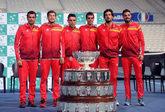 Integrantes del equipo español de Copa Davis
