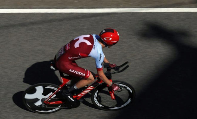 El corredor estadounidense Ian Boswell durante la Vuelta a España