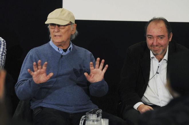 Natalio Grueso (a la derecha), con el director de cine Carlos Saura...