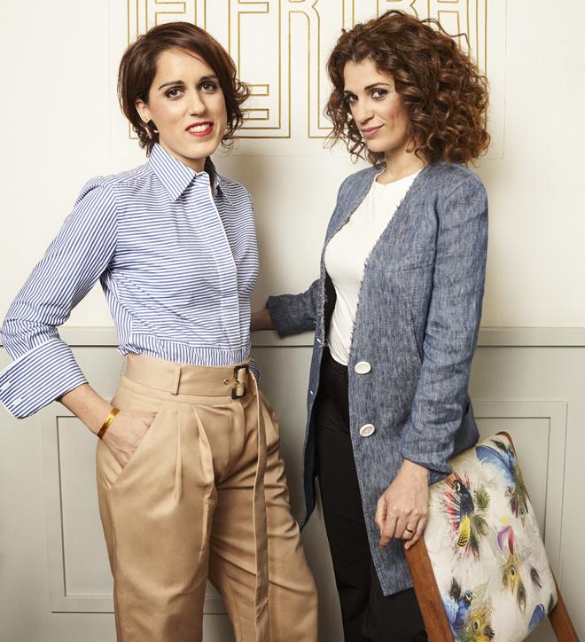 Laura Baena, fundadora del club de Malasmadres, y Ruth Gabriel, actriz.