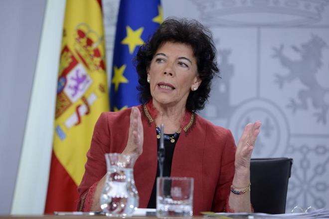 La ministra Isabel Celaá.