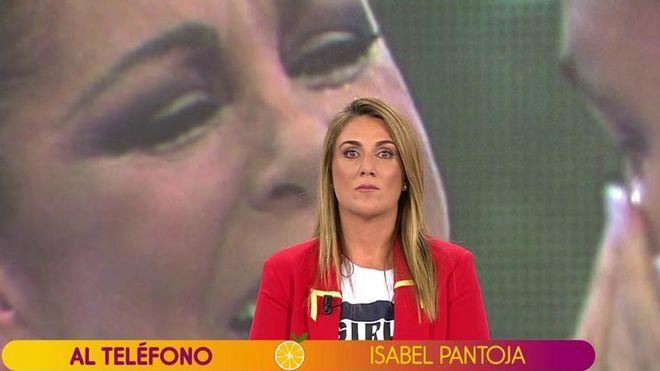 Carlota Corredera atiende la inesperada llamada de Isabel Pantoja.