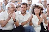 Josep Borrell, Óscar Puente y Cristina Narbona, en un acto del PSOE...