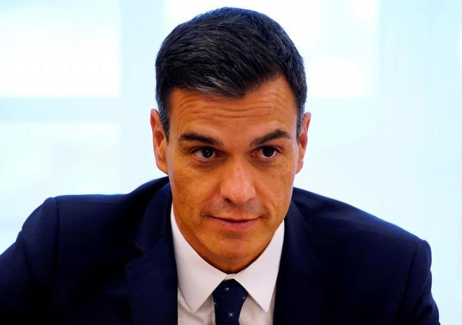 El presidente del Gobierno, Pedro Sánchez, el miércoles, en una...