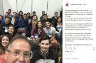 La foto colgada por Fernández, en primer plano, en su cuenta de Instagram.