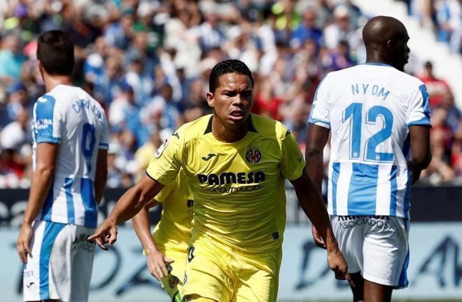 Bacca celebra el gol de la victoria del Villarreal en Leganés.