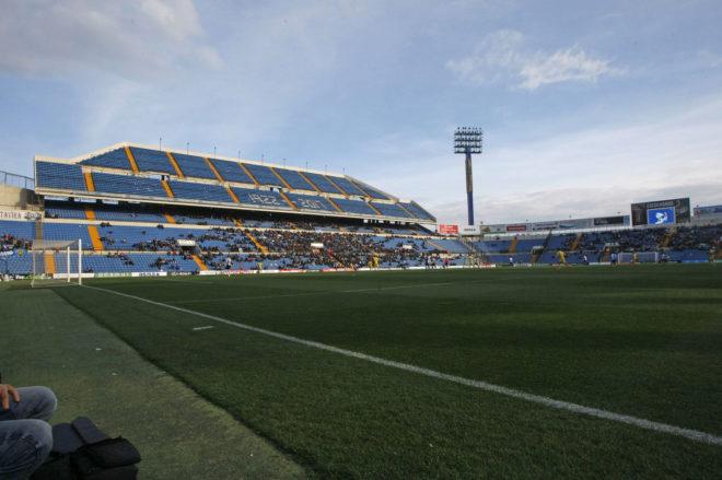 Una de las gradas del estadio José Rico Pérez, en el que juega el Hércules, en imagen de archivo.