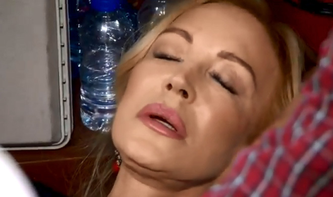 Carmen Lomana se desmaya durante una de las pruebas de MasterChef.