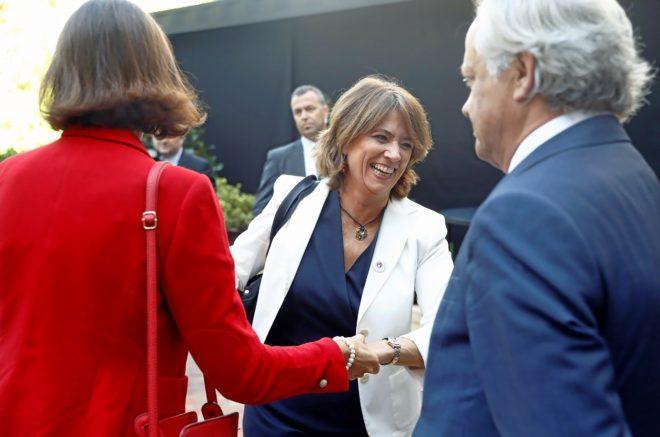 La ministra de Justicia, Dolores Delgado, ayer, tras el acto del...