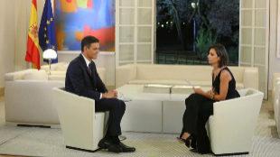Entrevista de la periodista de La Sexta Ana Pastor al presidente del...