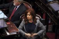 La ex presidenta Cristina Fernández durante una sesión del Senado en Buenos Aires.