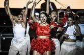 Rosalía durante su actuación en el Festival Starlite de Marbella
