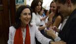 La ministra de Defensa, Margarita Robles, en el Congreso de los...