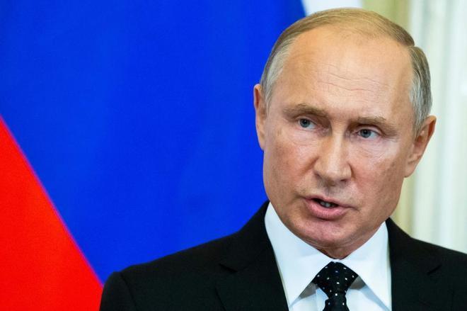 El presidente ruso Vladimir Putin, ayer, en el Kremlin.