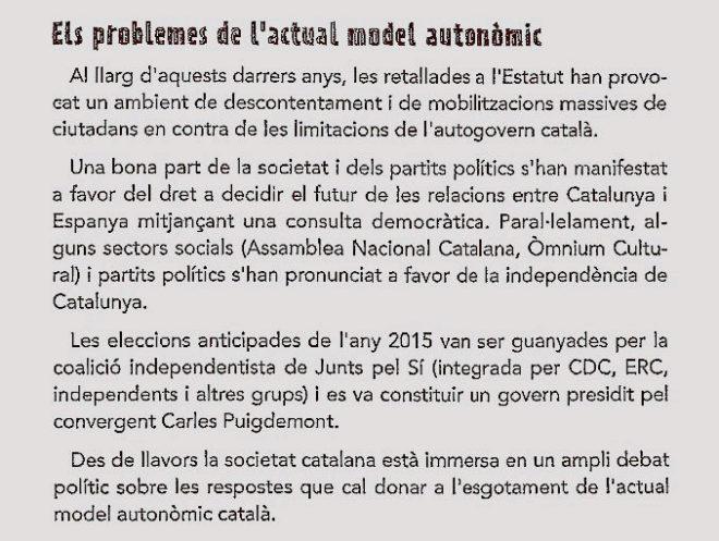 """""""El actual modelo autonómico catalán está agotado"""". Lo proclama el..."""