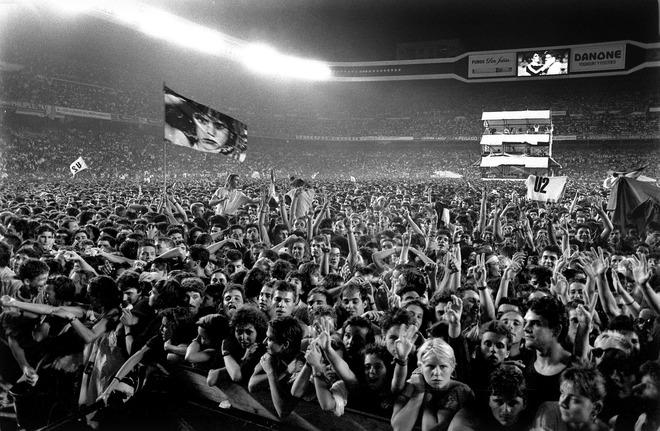 Aspecto del Santiago Bernabéu aquel 15 de julio de 1987.