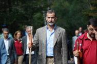 Felipe VI recorre la senda de la Pradera.