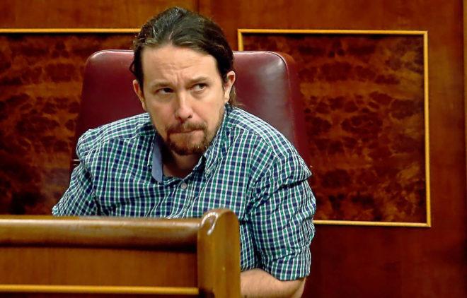 El secretario general del Podemos, Pablo Iglesias, en el Congreso de...