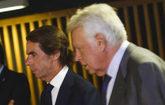 Los ex presidentes del Gobierno, Felipe González y José María Aznar