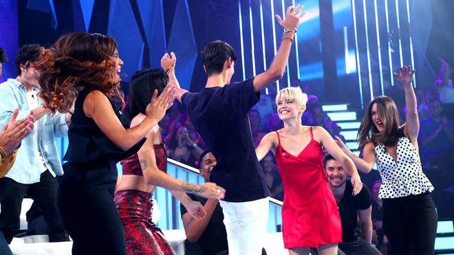 Los concursantes de Operación Triunfo 2018 durante la Gala 0