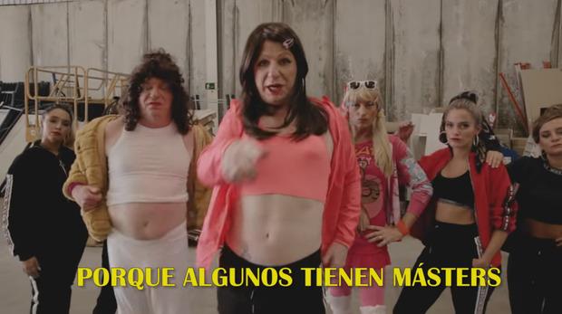 Los Morancos en el videoclip de su versión de Malamente