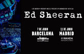 Cartel promocional de los dos conciertos que Ed Sheeran ofrecerá en...