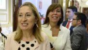 La presidenta del Congreso, Ana Pastor, tras la Junta de Portavoces de...