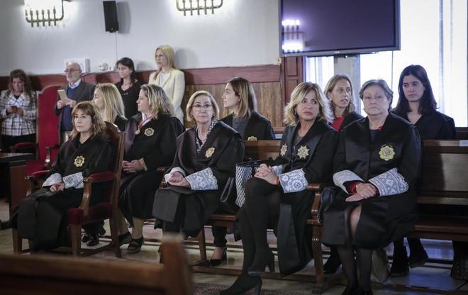 Imagen del nombramiento de jueces de refuerzo para los juzgados de cláusulas suelo en Valencia el pasado mes de abril.
