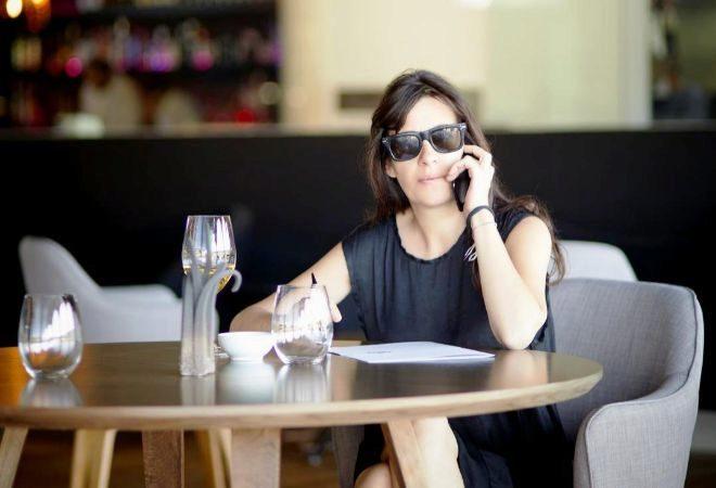 Amaya Arzuaga en su nueva faceta como empresaria.
