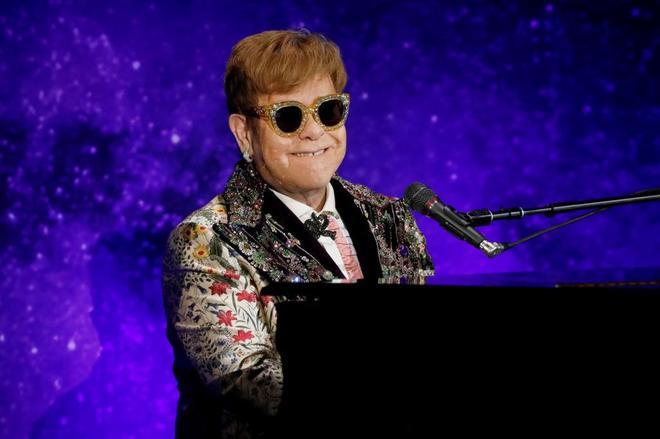Elton John, este jueves durante un concierto.