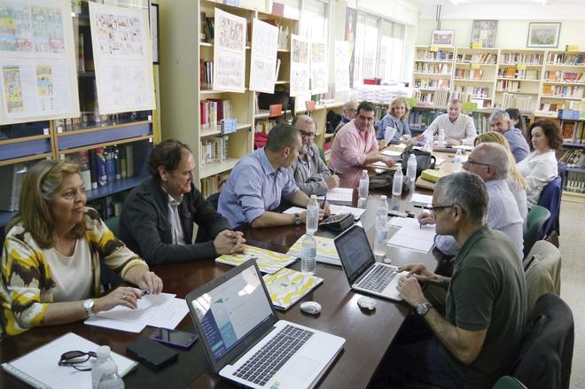 Reunión en Jaén de la Directiva Regional de ADIAN el pasado año.