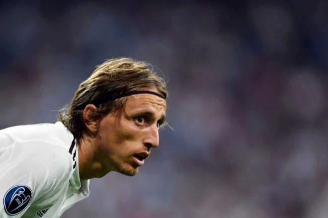 Luka Modric, en el partido de Champions ante la Roma.