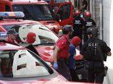 Dos de los detenidos por el triple crimen de Cáseda a su llegada al...