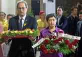 El presidente de la Generalitat, Quim Torra, y la delegada del...
