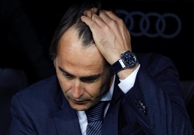 Julen Lopetegui, durante el partido del Real Madrid ante el Espanyol.
