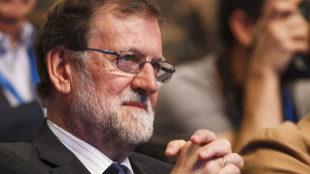 El presidente del Gobierno, Mariano Rajoy, en el Congreso...