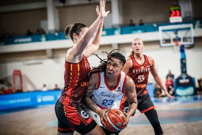 Yolanda Jones, jugadora de Puerto Rico, el sábado, contra Bélgica.