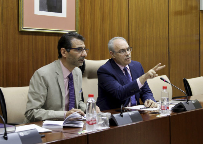 El presidente del Parlamento, Juan Pablo Durán, durante la sesión constitutiva de la comisión de investigación sobre la Faffe, el pasado viernes.