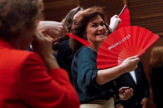 """Carmen Calvo: """"Las mujeres queremos competir en igualdad de oportunidades; sabemos que ganamos"""""""