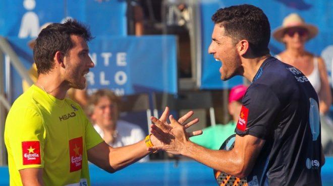 Sanyo Gutiérrez y Maxi Sánchez celebran su victoria en el Master de Portugal.