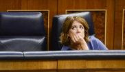 La ministra de Justicia, Dolores Delgado, en el Congreso de los...