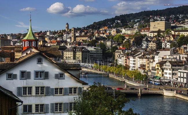 Vista panorámica de la ciudad suiza.