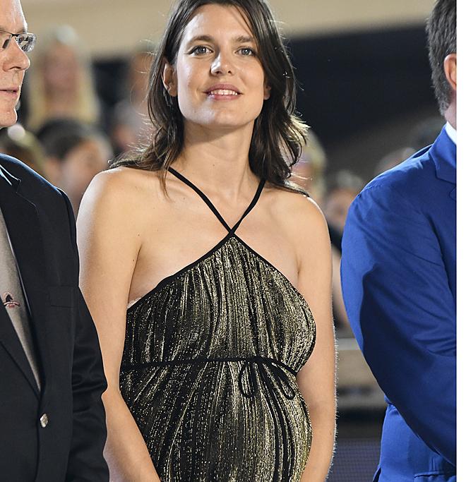 Carlota Casiraghi, embarazada, en el Gran Premio de Montecarlo.