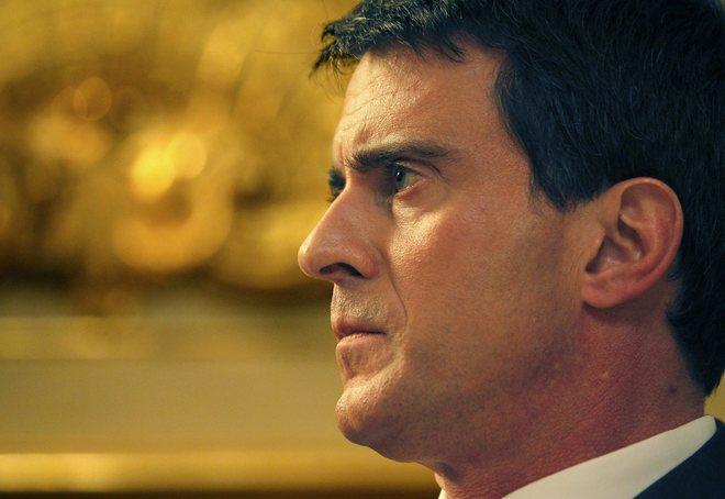 Manuel Valls, durante una entrevista de 2014 en el Hotel Matignon, en...
