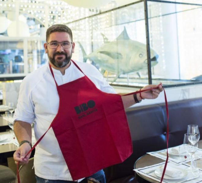 Dani García, en su restaurante Bibo de Madrid, donde presentó el proyecto con la Fundación Mapfre.