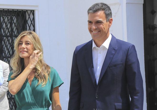 Begoña Gómez junto a Pedro Sánchez, en Sanlucar de Barrameda