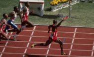 Ben Johnson, en la meta, durante la final de los 100 metros en los Juegos de Seúl.