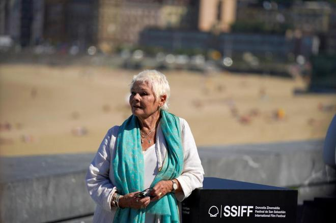 Judi Dench, hoy en San Sebastián.