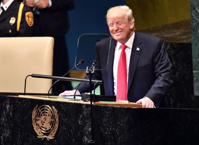 Donald Trump, en la sede de Naciones Unidas, en Nueva York.